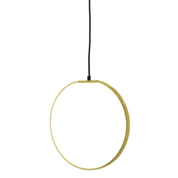 Kör alakú arany LED függőlámpa 35 cm