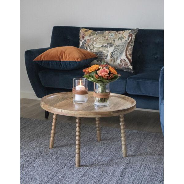Mangófa kerek kisasztal 60 cm