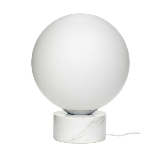 Márvány és fehér állólámpa 50 cm