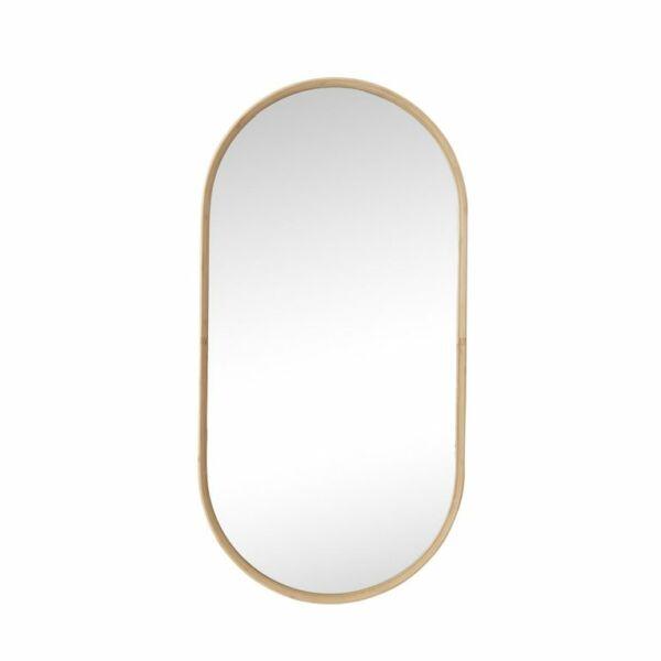 Minimalista bambusz keretes tükör