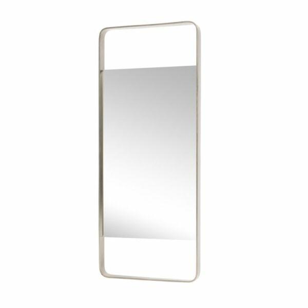Minimalista ezüstszínű tükör