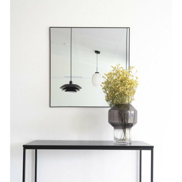 Minimalista fekete keretes tükör 60x60 cm