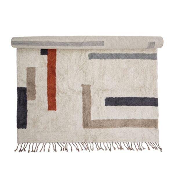 Mintás pamut szőnyeg 200x140 cm