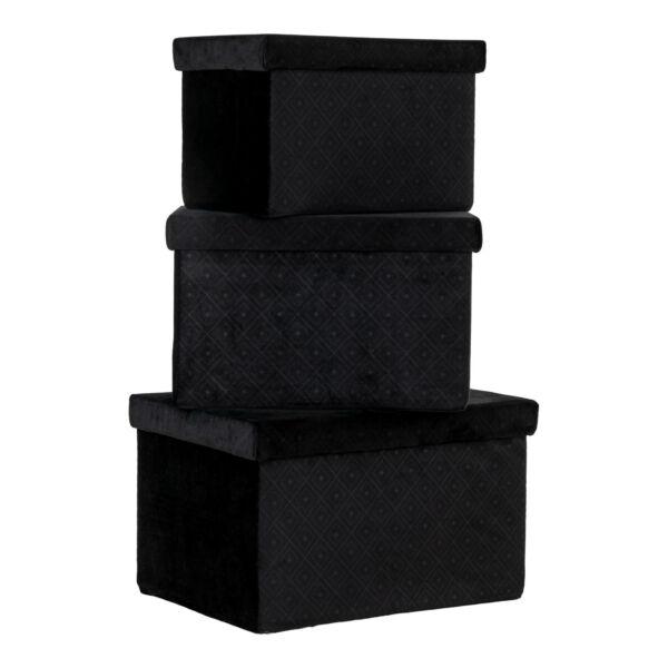 Modern bársony doboz 3 db