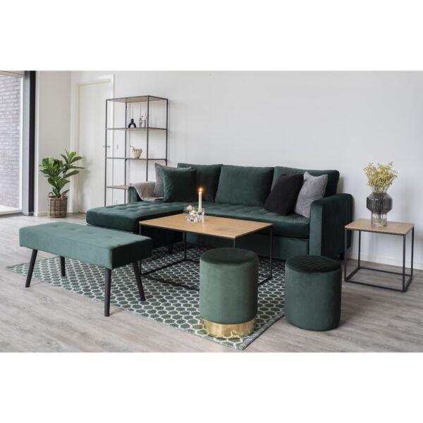 Modern fa színű szögletes kisasztal