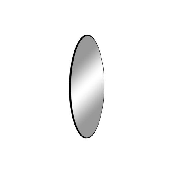 Modern fekete keretes kör tükör Ø40 cm