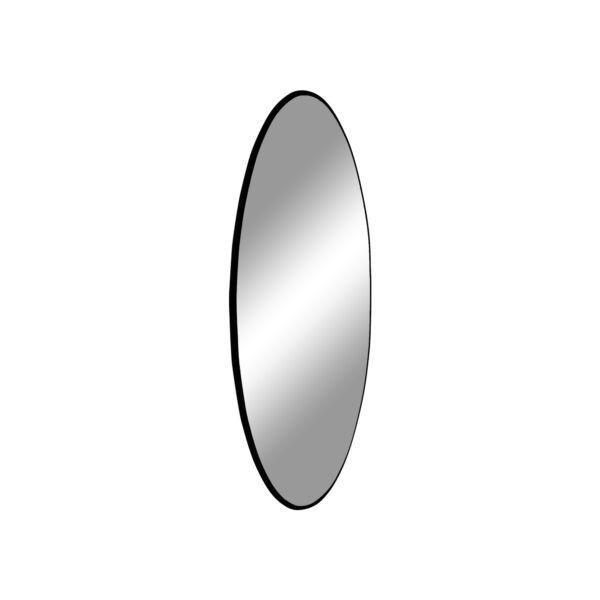 Modern fekete keretes kör tükör Ø60 cm