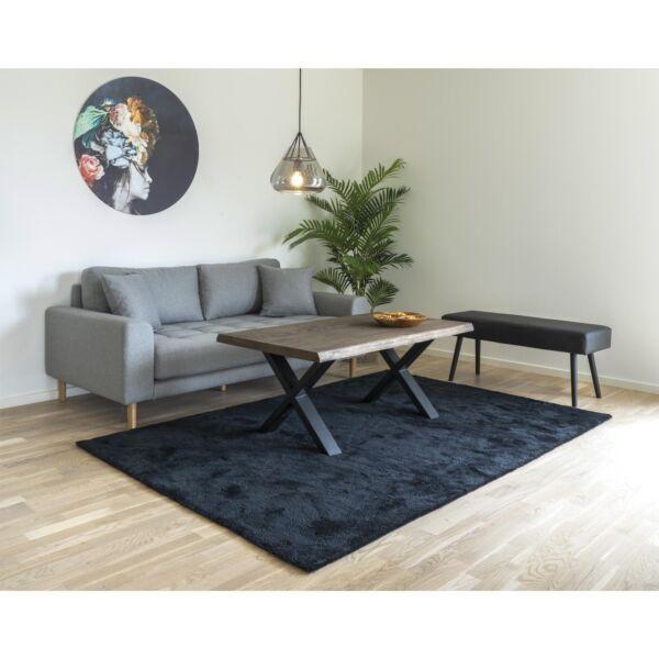Modern fekete nagy szőnyeg 160x230 cm