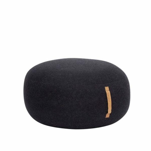 Modern fekete puff ø75 cm
