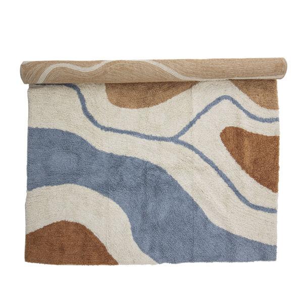 Modern hullám mintás pamut szőnyeg 200x140 cm