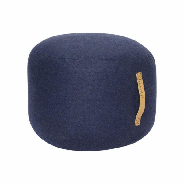 Modern kék puff ø50 cm