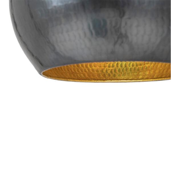 Modern sötétszürke gömb függőlámpa Ø25 cm
