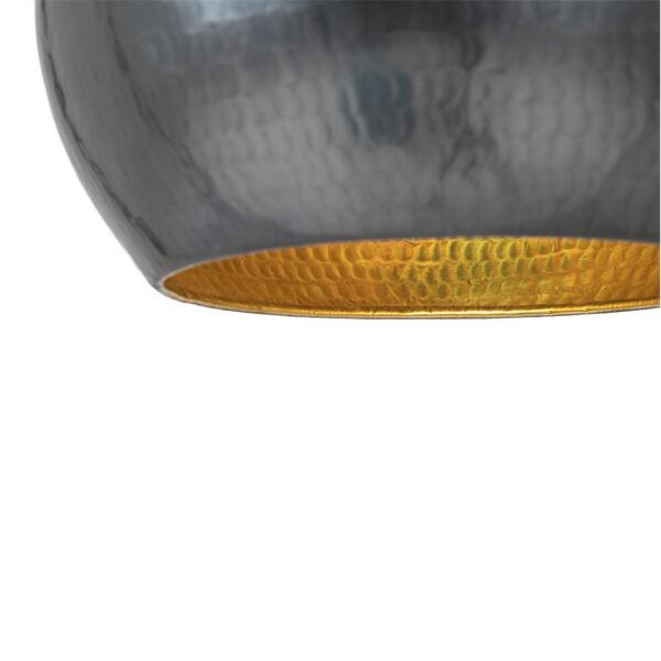 Modern sötétszürke gömb függőlámpa Ø35 cm