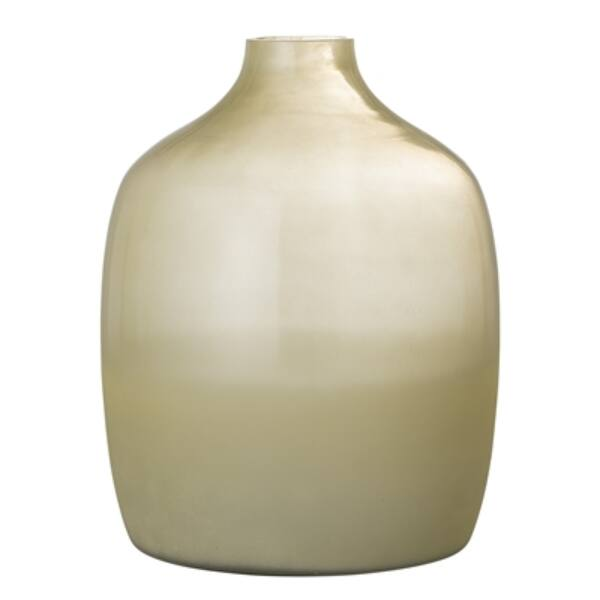 Nagy sárga üveg váza
