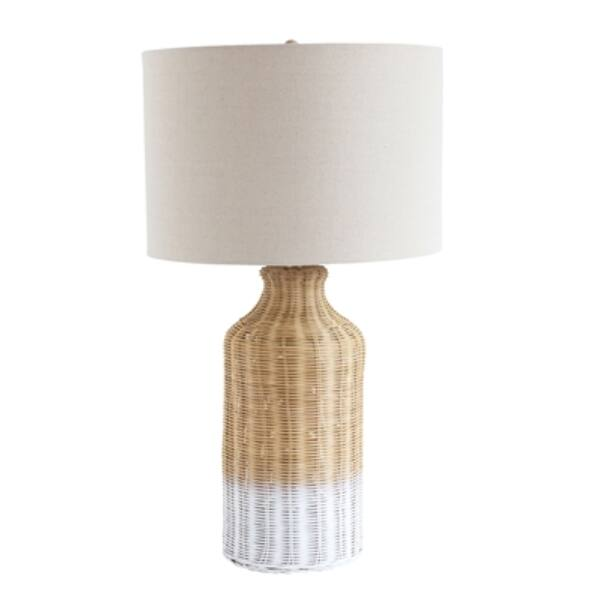 Natúr bambusz asztali lámpa 68 cm