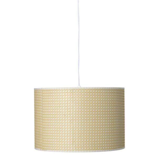 Natúr bambusz PVC függőlámpa Ø45 cm