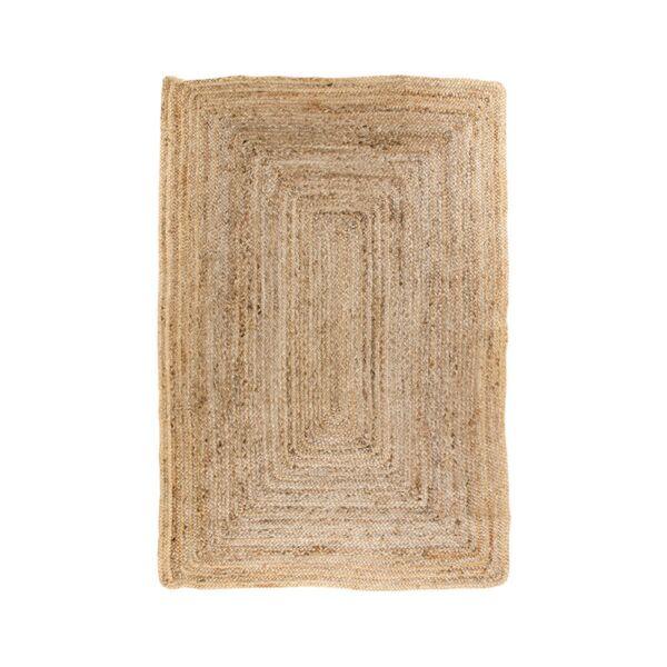 Natúr fonott juta szőnyeg 90x60 cm