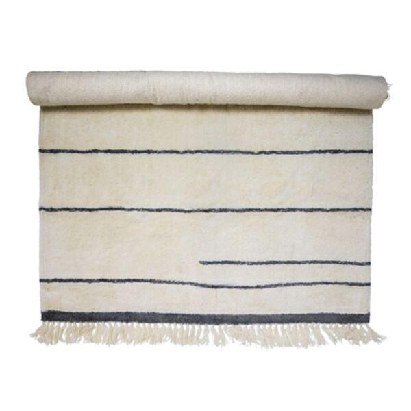 Natúr gyapjú szőnyeg egyedi mintával 200x140cm