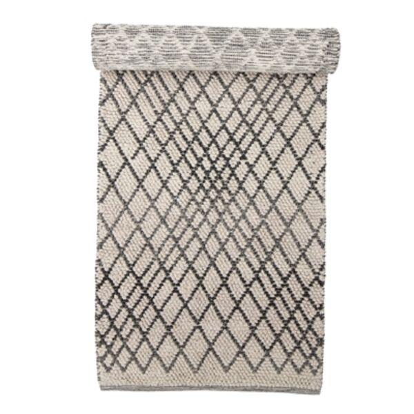 Natúr hosszú gyapjú szőnyeg 80x250 cm