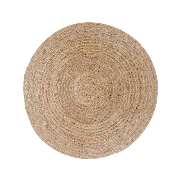 Natúr kör fonott juta szőnyeg Ø120 cm