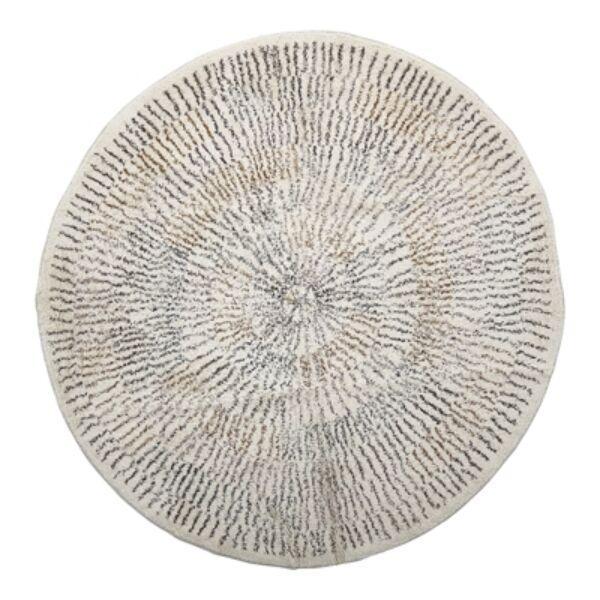 Natúr mintás kör pamut szőnyeg Ø120 cm
