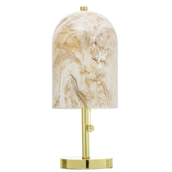 Natúr mintás üveg asztali lámpa 45 cm