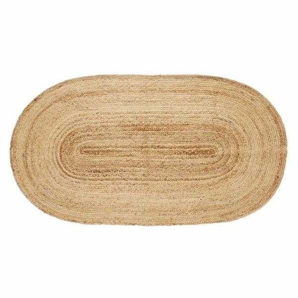 Natúr ovális juta szőnyeg 100x200 cm