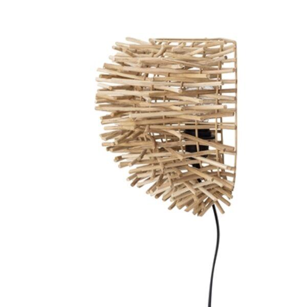 Rattan fali lámpa 38 cm