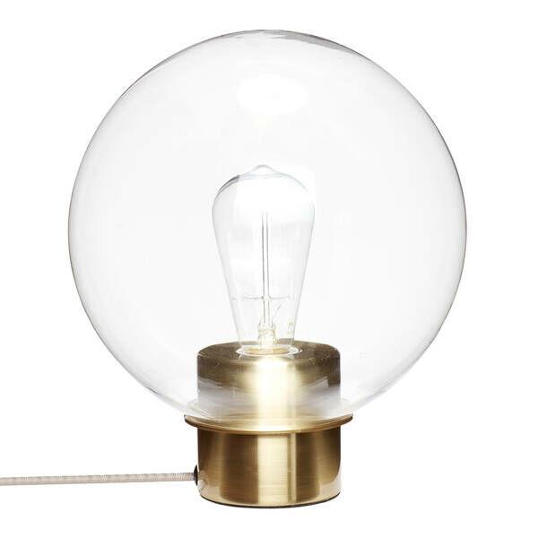 Réz talpú gömb búrás asztali lámpa
