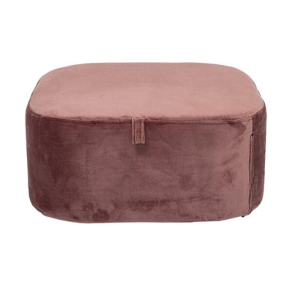 Rózsaszín bársony puff 55x25 cm