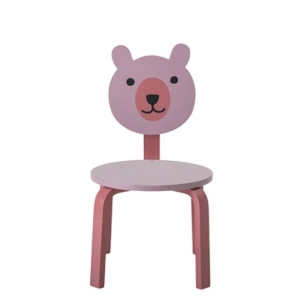 Rózsaszín macis szék 2 db