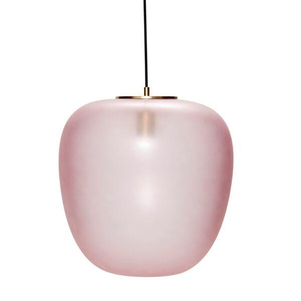 Rózsaszín matt üveg függőlámpa 40 cm