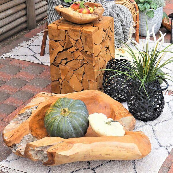 Rusztikus teakfa kisasztal