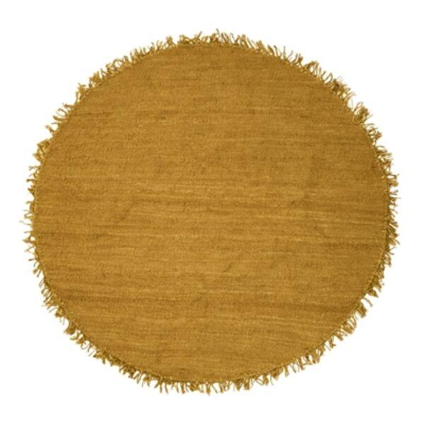 Sárga kör juta szőnyeg Ø150 cm