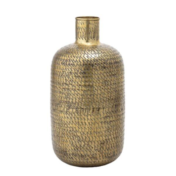 Sárgaréz magas váza