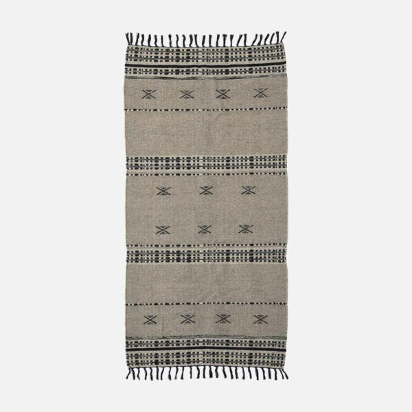 Skandináv natúr gyapjú szőnyeg 200x90 cm