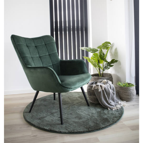 Skandináv zöld kör alakú szőnyeg Ø120 cm