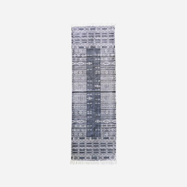Sötét mintás pamut szőnyeg 240x70 cm