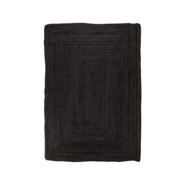 Sötétszürke juta szőnyeg 90x60 cm