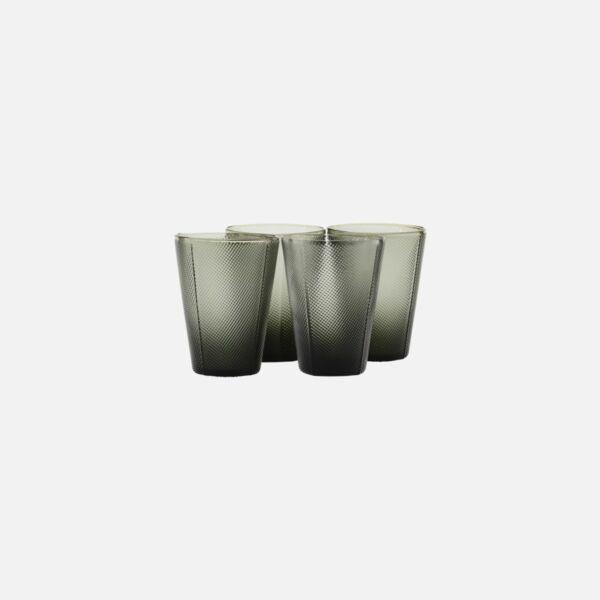 Sötét üveg vizespohár 24 db