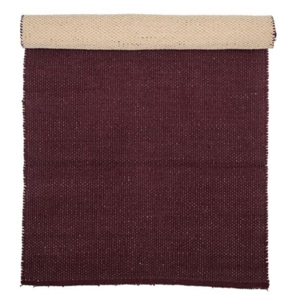 Sötétbordó pamut szőnyeg 120x60cm