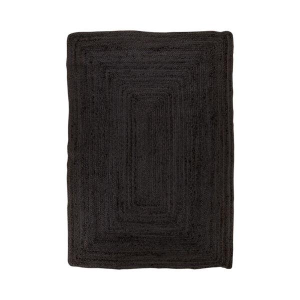 Sötétszürke juta szőnyeg 135x65 cm