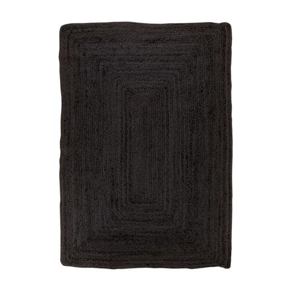 Sötétszürke juta szőnyeg 180x120 cm