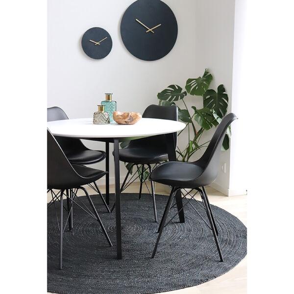 Sötétszürke kör alakú juta szőnyeg Ø150 cm