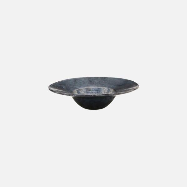 Sötétszürke kerámia porcelán tészta tányér 6 db