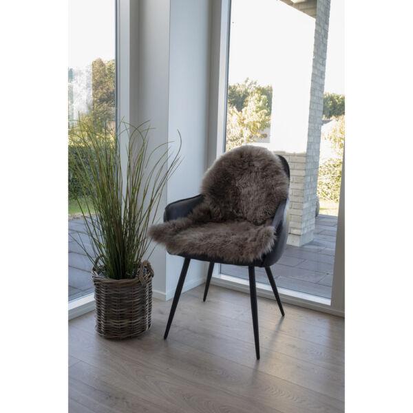 Barnásszürke báránybőr üléstakaró 80x50 cm