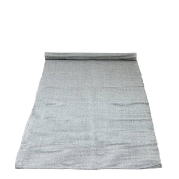 Szürke csíkozott pamut szőnyeg 240x75 cm