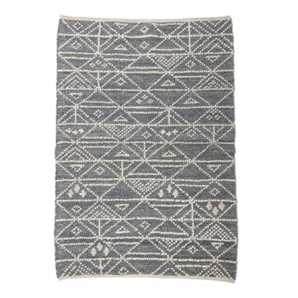 Szürke mintás gyapjú szőnyeg 180x120 cm