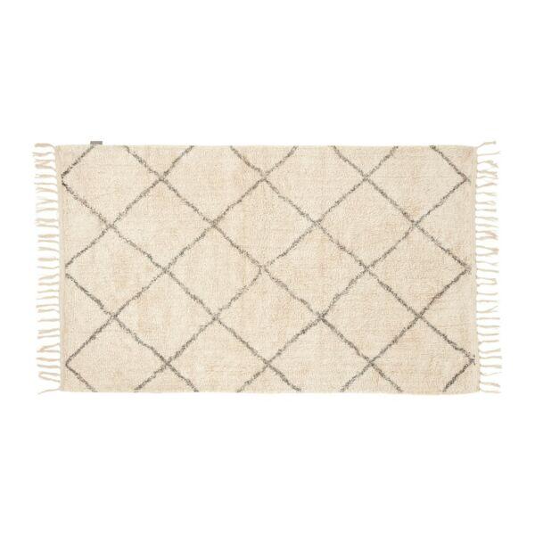 Szürke mintás pamut szőnyeg 90x150 cm