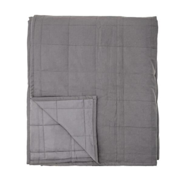 Szürke pamut ágytakaró 220x260 cm